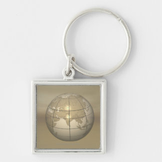 3D Globe Key Ring