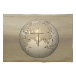 3D Globe Placemat