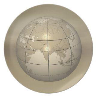 3D Globe Plate
