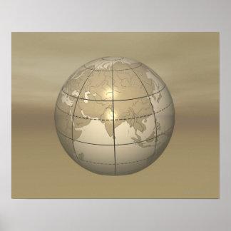 3D Globe Poster
