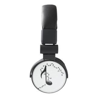 3D Glossy Music Note Design Headphones