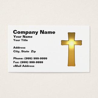 3D Gold Cross Business Card