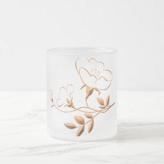 3d Gold Flower Mugs