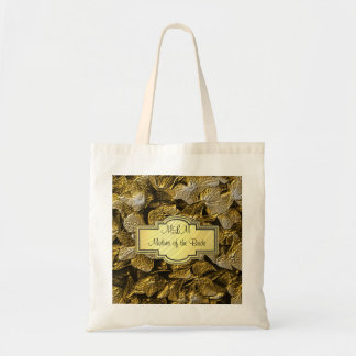3D Gold Hydrangea Monogram Mother of the Bride Bag