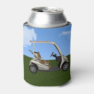 3D Golf Cart on Grass Can Cooler