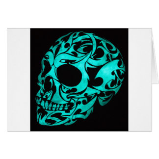 3D gothic skull Greeting Card