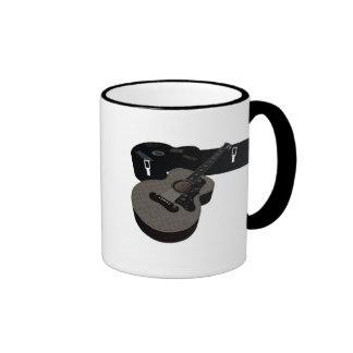 3D Halftone Acoustic Guitar & Case Ringer Mug