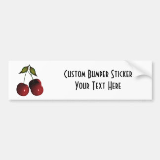 3D Halftone Cherries Bumper Sticker