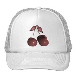 3D Halftone Cherries Retro Red Cap