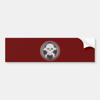 3D Halloween Skull and Cross-bones Bumper Sticker