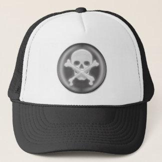 3D Halloween Skull and Cross-bones Trucker Hat