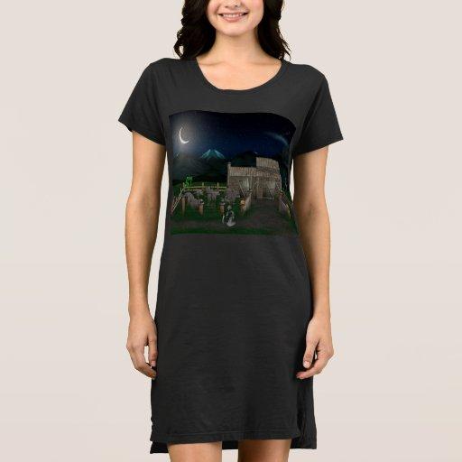 3d-haunted-house Dress