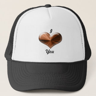 3D Heart Design Trucker Hat