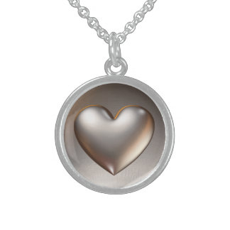 3d Heart / Heart of Gold Personalized Necklace