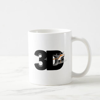 3d Helicopter Basic White Mug