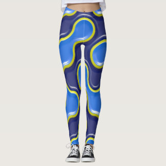 3D High Relief Steely Mojo pattern Leggings