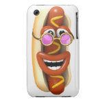 3d Hot Dog Cool Pink Shades iPhone 3 Case-Mate Cases