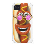 3d Hot Dog Cool Pink Shades iPhone 4/4S Cover