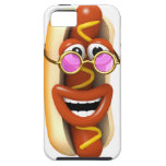 3d Hot Dog Cool Pink Shades iPhone 5 Case