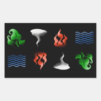 3D Iconic Elements Rectangular Sticker