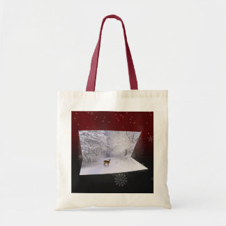 "3D Illusion ""Snowy Dreams"" - Budget Tote Budget Tote Bag"
