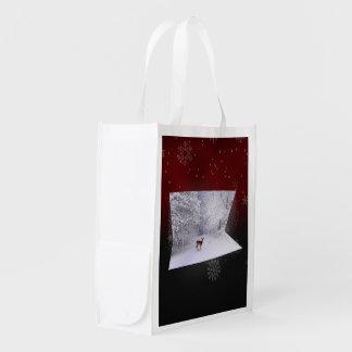 "3D Illusion ""Snowy Dreams"" - Reusable Bag"