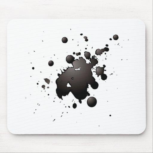 3d ink splat mousepads
