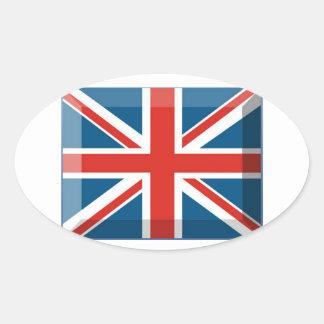 3D Jubilee Oval Sticker