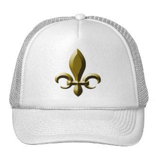 3D Look Gold Fleur de Lis Cap