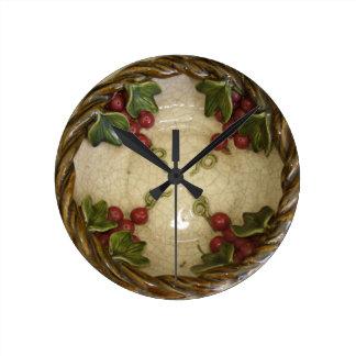 3D look grapes bowl Wall Clock