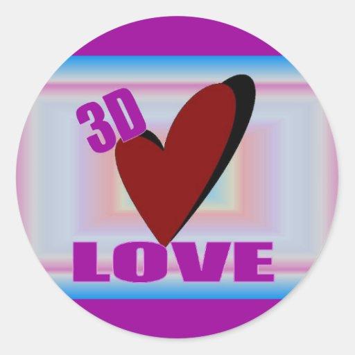 3D LOVE Sticker