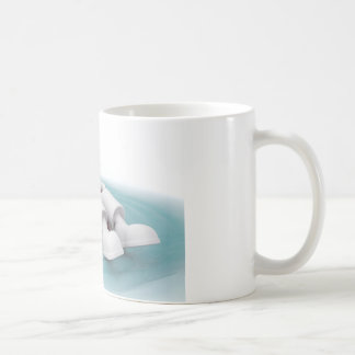 3d man relaxing in a pool coffee mug