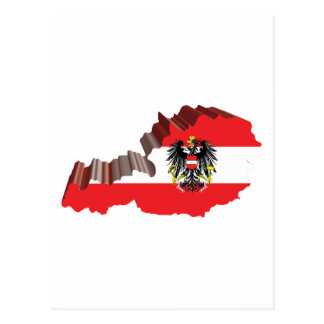 3D Map Of Austria Postcard