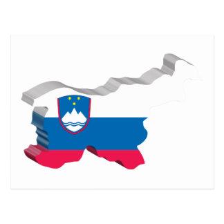 3D Map Of Slovenia Postcard