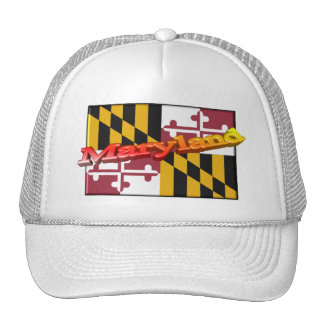3D Maryland State Flag Mesh Hats