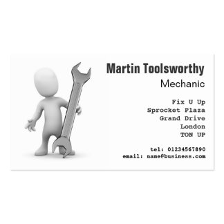 3d Mechanic, repair and engineering Business Card Template