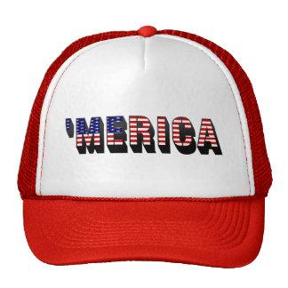 3D MERICA US Flag Trucker Hat