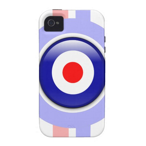 3d Mod target on Blue and red lines Vibe iPhone 4 Case