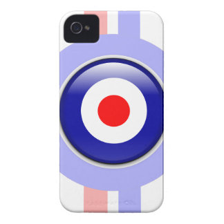 3d Mod target on Blue and red lines iPhone 4 Covers