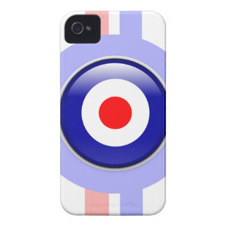 3d Mod target on Blue and red lines iPhone 4 Case-Mate Case