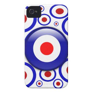 3d Mod Target on sixties pattern Blackberry Cases