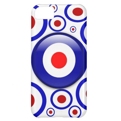3d Mod Target on sixties pattern iPhone 5C Case