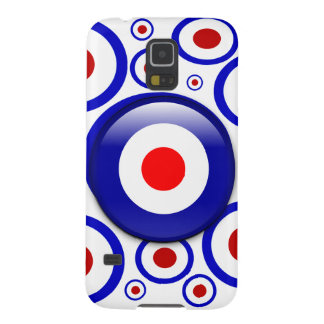 3d Mod Target on sixties pattern Case For Galaxy S5