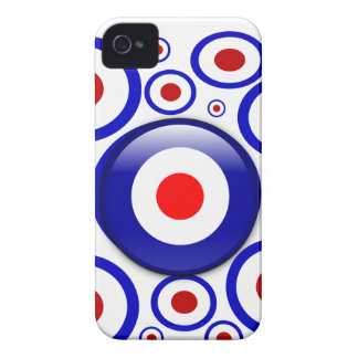 3d Mod Target on sixties pattern iPhone 4 Case