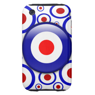 3d Mod Target on sixties pattern Tough iPhone 3 Covers