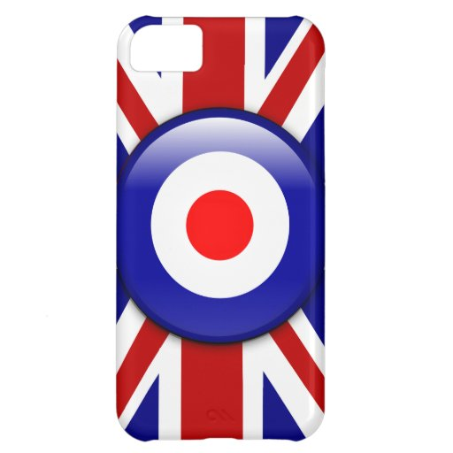 3D Mod target on Union jack print Case For iPhone 5C