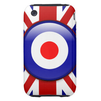 3D Mod target on Union jack print iPhone 3 Tough Covers