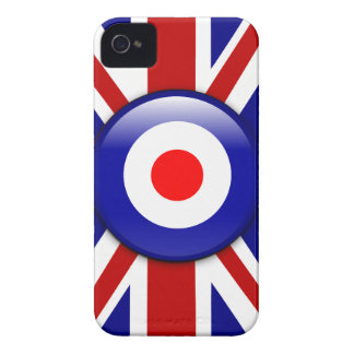 3D Mod target on Union jack print iPhone 4 Covers