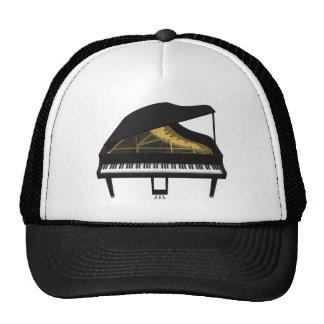 3D Model: Black Grand Piano: Cap
