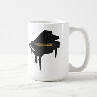 3D Model Black Grand Piano Coffee Mugs